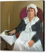 Quaker Lady Canvas Print by Marjorie Harris