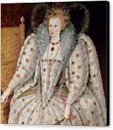 Queen Elizabeth I Of England And Ireland Canvas Print by Anonymous