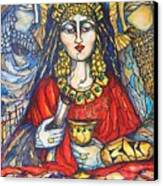 Queen Esther Canvas Print by Rae Chichilnitsky
