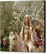 Queen Guinevere Canvas Print by John Collier