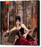 queen of Swords Canvas Print by Tammy Wetzel