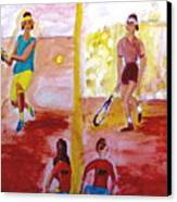 Rafa Versus Federer Canvas Print by Stanley Morganstein