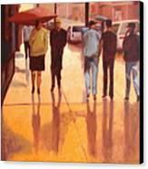Rain In Manhattan Number Eighteen Canvas Print by Tate Hamilton
