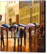 Rain In Manhattan Number Seventeen Canvas Print by Tate Hamilton
