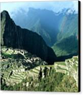 Rainbow Over Machu Picchu Canvas Print by James Brunker