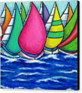 Rainbow Regatta Canvas Print by Lisa  Lorenz