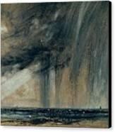 Rainstorm Over The Sea Canvas Print by John Constable