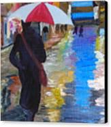 Rainy New York Canvas Print by Michael Lee