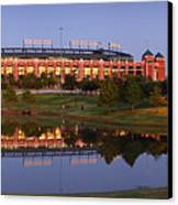 Rangers Ballpark In Arlington At Dusk Canvas Print by Jon Holiday