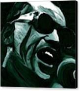 Ray Charles Canvas Print by Jeff DOttavio