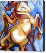 Rearing Horse Canvas Print by Leyla Munteanu