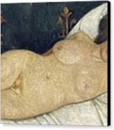 Reclining Female Nude Canvas Print by Paula Modersohn-Becker