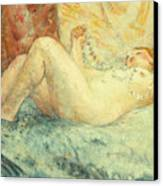 Reclining Nude Canvas Print by Henri Lebasque