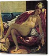 Reclining Odalisque Canvas Print by Ferdinand Victor Eugene Delacroix