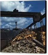 Recycling Scrap Steel During World War Canvas Print by Everett