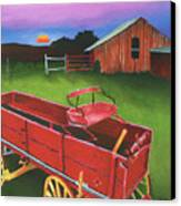 Red Buckboard Wagon Canvas Print by Stephen Anderson