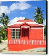Red Chattel House Canvas Print by Barbara Marcus