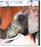 Red Elephant Canvas Print by Anthony Burks Sr