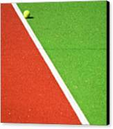 Red Green White Line And Tennis Ball Canvas Print by Silvia Ganora