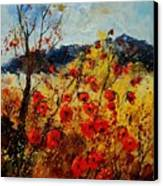 Red Poppies In Provence  Canvas Print by Pol Ledent