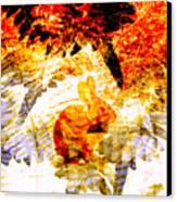 Red Rabbit Canvas Print by Robert Ball