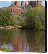 Red Rock Crossing In Sedona Canvas Print by Sandra Bronstein