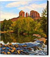 Red Rock Crossing Three Canvas Print by Paul Basile