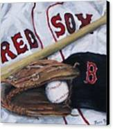 Red Sox Number Six Canvas Print by Jack Skinner