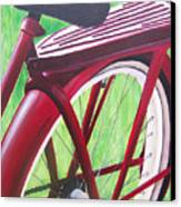 Red Super Cruiser Bicycle Canvas Print by Charlene Cloutier