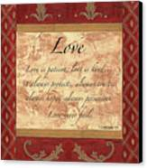 Red Traditional Love Canvas Print by Debbie DeWitt