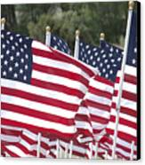 Red White And Blue Canvas Print by Jerry McElroy