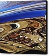Reflection On A Parked Car 11 Canvas Print by Sarah Loft