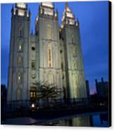 Reflective Temple Canvas Print by Chad Dutson