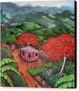 Regreso Al Campo Canvas Print by Luis F Rodriguez
