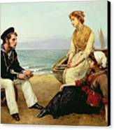 Relating His Adventures Canvas Print by William Oliver