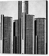Renaissance Center - Black And White Canvas Print by Alanna Pfeffer