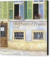 Restaurant Pfauen Canvas Print by Scott Nelson