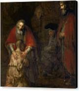 Return Of The Prodigal Son Canvas Print by Rembrandt Harmenszoon van Rijn