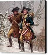 Revolutionary War Soldiers Marching Canvas Print by War Is Hell Store