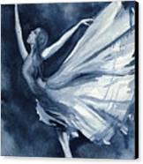 Rhapsody In Blue Canvas Print by L Lauter