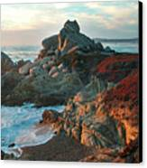 Ribera Beach Sunset Carmel California Canvas Print by Charlene Mitchell