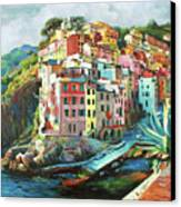 Riomaggiore Italy Canvas Print by Conor McGuire