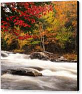 River Rapids Fall Nature Scenery Canvas Print by Oleksiy Maksymenko
