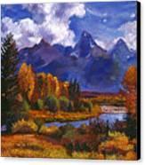 River Valley Canvas Print by David Lloyd Glover