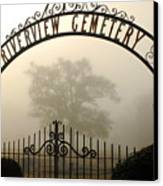 Riverview Cemetery II Canvas Print by Wayne Archer
