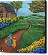 Road To Maple Canvas Print by Anne Klar