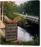 Roadside Fishing Spot Canvas Print by Doug Strickland