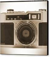 Robin 35mm Rangefinder Camera Canvas Print by Mike McGlothlen