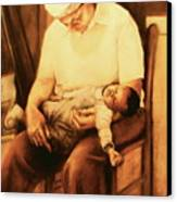 Rock-a-bye Grandma Canvas Print by Curtis James