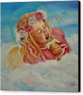 Rock And Roll Angel Canvas Print by Joni McPherson